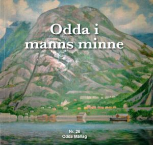 Framsida til boka Odda i manns minne, nr. 26.