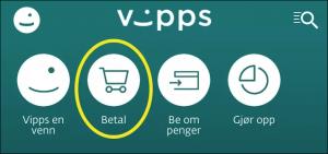 Illustrasjon synar VIPPS-knappen for Betal.